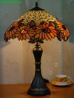 Sunflower Tiffany Lamp  18S2-16T284