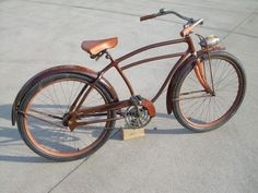 Click this image to show the full-size version. Antique Bicycles, Bicycle Pedals, Vintage Bicycles, Custom Bikes, Cool Bikes, Rats, Vintage Antiques, Cool Stuff, Gallery