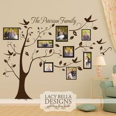 """Personalized Family Picture Tree"" www.lacybella.com 