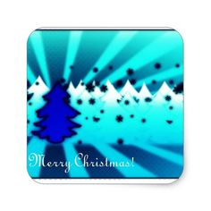 Shop Merry Christmas - Blue Square Sticker created by Personalize it with photos & text or purchase as is! Blue Square, Christmas Stickers, Different Shapes, Custom Stickers, Activities For Kids, Merry Christmas, Diy Projects, Scrapbook, Make It Yourself