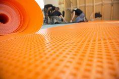 New Plastic Subfloor for Basement