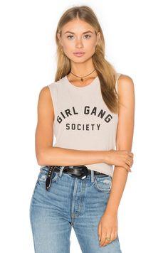 AMUSE SOCIETY Girl Gang Tank in Oatmeal Heather