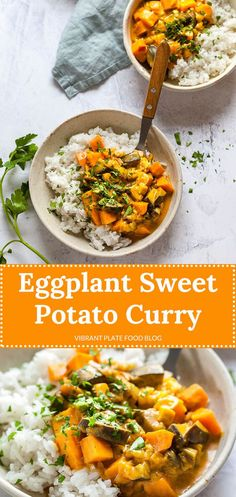 recipes meal prep A delightful Eggplant Sweet Potato Curry Recipe that is perfect for Meal-Prep. A delightful Eggplant Sweet Potato Curry Recipe that is perfect for Meal-Prep. Whole Food Recipes, Dinner Recipes, Cooking Recipes, Healthy Recipes, Tuna Recipes, Healthy Foods, Sweet Potato Curry Vegan, Vegan Sweet Potato Recipes, Vegetables