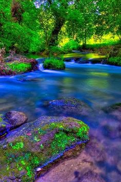 'Colors of nature' - Treja river, Grezanno, Lazio, Italy by Claudio Cantonetti Travel and Photography from around the world.Just Beautiful. Foto Nature, Image Nature, Beautiful World, Beautiful Places, Beautiful Pictures, Beautiful Beautiful, Beautiful Scenery, Photos Voyages, Nature Pictures