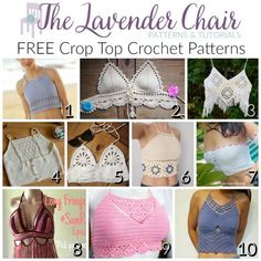 FREE Crop Top Crochet Patterns - The Lavender Chair