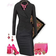 """""""Its a wrap in pink and black"""" by wendyfer on Polyvore"""