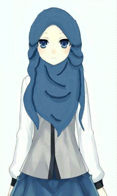 Image result for anime bertudung