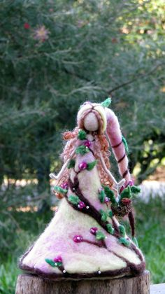 Waldorf inspired Needle felted fairy Rose doll by Made4uByMagic