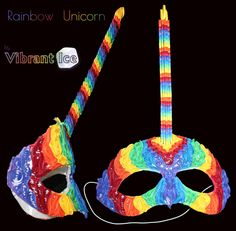 Quilled Rainbow Unicorn Mask by VibrantIce on DeviantArt