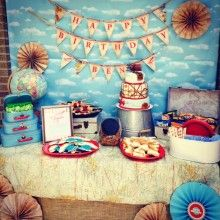 Airplane and Travel-Themed Birthday Party
