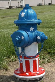Patriotic Fire Hydrant at the YMCA