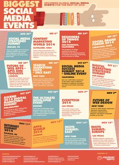 If you haven't managed to make it to a conference yet this year, don't worry. We've compiled a handy Social Media Events Calendar of all the upcoming conferences in 2014. Check it out!