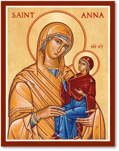 Shop for icons of women saint today at Monastery icons, including this Sr. Anna Icon, the mother of the Virgin Mary. Byzantine Icons, Byzantine Art, Byzantine Mosaics, Catholic Art, Catholic Saints, Religious Icons, Religious Art, Saint Joachim, Greek Wedding Traditions