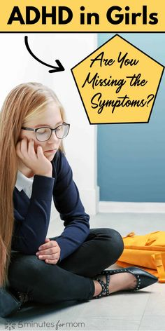Girls with ADHD are misunderstood and under-diagnosed compared to boys. #adhd #adhdsymptoms