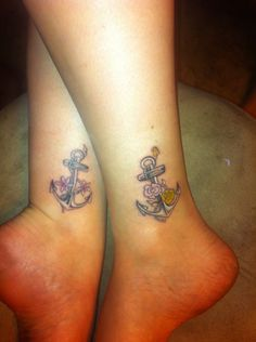 Sister tattoo :) my sister in my anchor!
