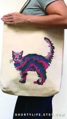 High-quality tote bag for all your shopping needs and cat lover gifts.