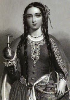"""Princess Matilda """"Atheling"""" of Scotland, daughter of King Malcolm III of Scotland and St. Margaret."""