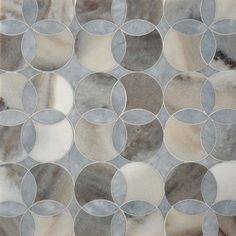 Afyon Gray, Palisandra Multi Finish Constantine Marble Mosaics 13 5/8x13 5/8