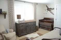 Boy's Vintage Nursery--love the weather-worn furniture, but something is missing to bring all of these elements together.
