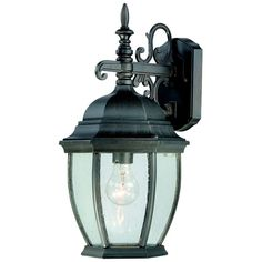 Covington One-Light Outdoor Wall Lantern in Painted Bronze