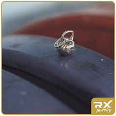 Silver kettlebell pendant. Silver kettlebell by RXJewelrySport