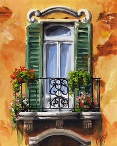Balcony Painting - Balcony Of Ravenna by Edit Voros