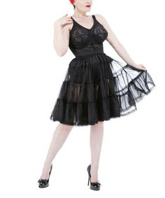 Another great find on #zulily! Black Petticoat - Women & Plus by HEARTS & ROSES LONDON #zulilyfinds