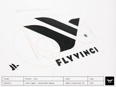 // L'Art Du Logotype / F and V for Flyvinci by Gert van Duinen