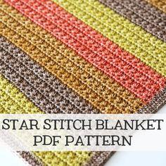 Star stitch blanket - pdf pattern by Haakmaarraak.nl
