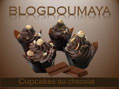Cupcakes au chocolat INGRÉDIENTS 2 œufs 125 g de farine 80 g de beurre très mou 75 g de chocolat noir 70 g de sucre en poudre 60 ml de lait 1/2 sachet de levure chimique Pour le glaçage : 200 g de chocolat(chocolat au lait pour moi) 200 g de sucre glace...