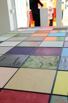 Oikos surfaces @ Materials Village, SuperStudioPiù. #iSaloni #MilanoDesignWeek
