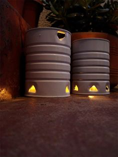 DIY outdoor coffee can lanterns