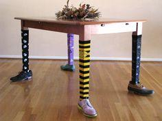 Dressed Table Legs | DIY Halloween Decorations