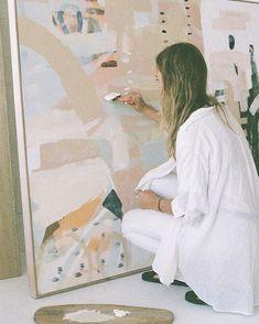 Studio Four — Ashleigh Holmes Art Painting Inspiration, Art Inspo, Diy Canvas, Canvas Art, Art Studios, Oeuvre D'art, Diy Art, Watercolor Art, Design Art