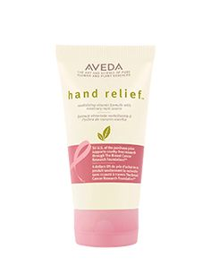 $4 from the sale of Aveda's limited-edition Hand Relief goes to The Breast Cancer Research Foundation.