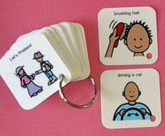 Autism ABA Activity - Let's Pretend Keyring Visual Aid - Autism Therapy Product