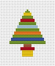 Easy Peasy Christmas Tree Cross Stitch Pattern- Great for kids who are just beginning cross stitch!