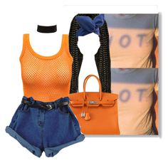 """""""💥"""" by ladiijae ❤ liked on Polyvore featuring Hermès and Charlotte Russe"""