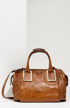 'Ethel' Lambskin Leather Top Handle Satchel-Nordy - gorgeous