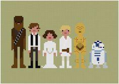 The Original Pixel People Star Wars A New von weelittlestitches