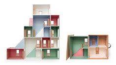 Cubby Houses, Box Houses, Paper Houses, Play Houses, Bauhaus, Fundraising Crafts, Kids Doll House, Kids Library, Wooden Dollhouse