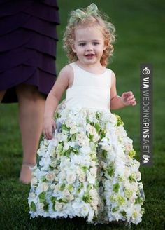 So cool! - A Flower Girl Dress Made With Real Roses | Alternate Angles | | CHECK OUT MORE GREAT FLOWER GIRL AND RING BEARER PHOTOS AND IDEAS AT WEDDINGPINS.NET | #weddings #wedding #flowergirl #flowergirls #rings #weddingring #ringbearer #ringbearers #weddingphotographer #bachelorparty #events #forweddings #fairytalewedding #fairytaleweddings #romance