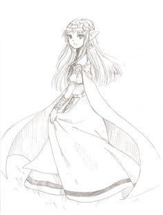 Awesome drawing of princess Zelda