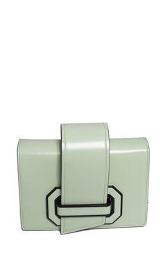 green mint Ribbon flap cross body bag from Prada