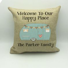Camping Pillow  Camping Gift  Camp Pillow  Camping Decor