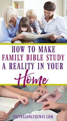 Family Bible study doesn't have to be a battle! These simple ideas will help your family develop a Bible study routine that will help kids grow a deep love of God and the Bible.