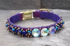 Items similar to Purple Luxury Dog Collar Handmade and Beaded with AB Crystals Glass and Freshwater Pearls on Etsy Bling Dog Collars, Luxury Dog Collars, Pet Collars, Beaded Dog Collar, Dog Steps, Renaissance Fashion, Purple Lilac, Dog Accessories, Heart Shapes