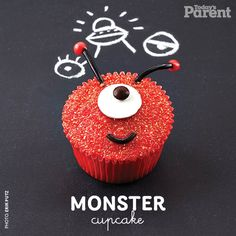 Find out how to create this monster #cupcake! 30th Birthday, Birthday Celebration, Birthday Parties, Planet Cake, Monster Cupcakes, Monster High Party, Cake Shapes, Cupcake Wars, Baking With Kids