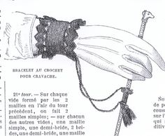 A cuff to hold your bat/whip while horseback riding.  this would be neat to have for a fan. civil war era fashion