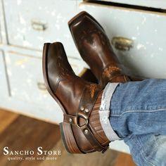 Sancho Boots 5049 Bikerstiefelette Shorty schwarz black